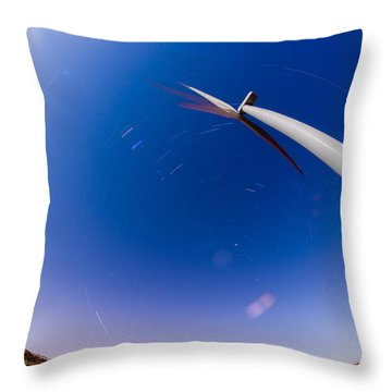 Turning Night Into Day Throw Pillow
