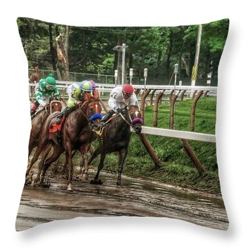 Turning The Mud Throw Pillow