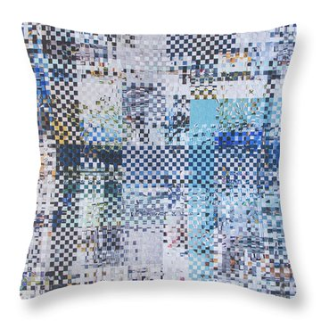 Throw Pillow featuring the mixed media Turning Tide by Jan Bickerton