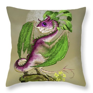 Throw Pillow featuring the digital art Turnip Dragon by Stanley Morrison