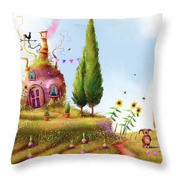 Turnips And Trolls Throw Pillow