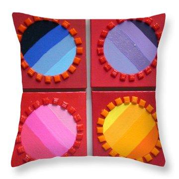 Turnstiles Throw Pillow by Gay Dallek
