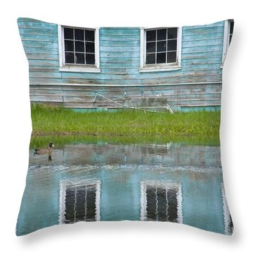Turquiose Illusion Throw Pillow