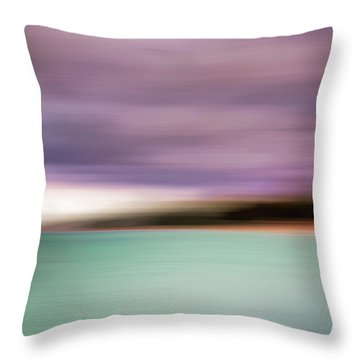 Throw Pillow featuring the photograph Turquoise Waters Blurred Abstract by Adam Romanowicz
