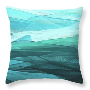 Throw Pillow featuring the painting Turquoise And Gray Modern Abstract by Lourry Legarde