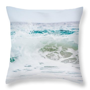 Turquoise Beauty Throw Pillow by Shelby Young