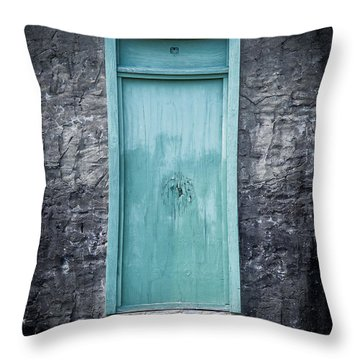 Turquoise Door Throw Pillow