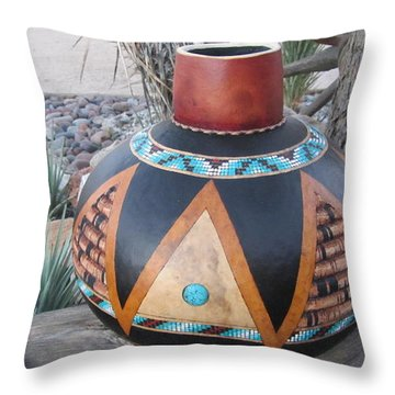 Turquoise Dream Go63 Throw Pillow
