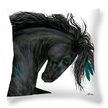 Turquoise Dreamer Horse Throw Pillow