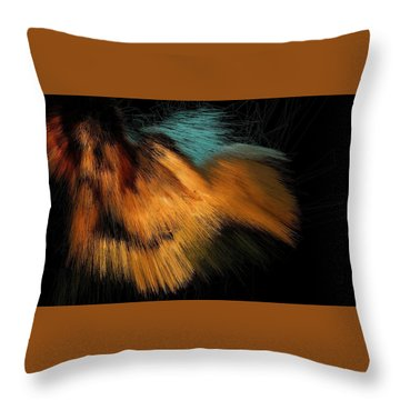 Turquoise Dunes Throw Pillow