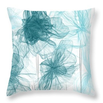 Turquoise In Sync Throw Pillow
