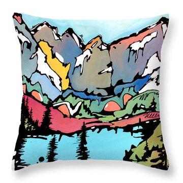 Turquoise Lake At Mt. Elbert Throw Pillow