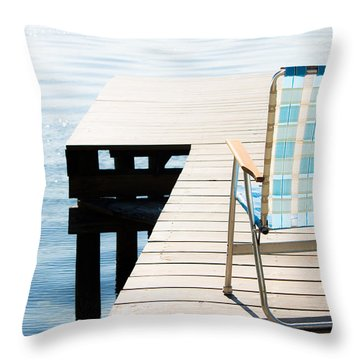 Turquoise Paradise Throw Pillow by Parker Cunningham
