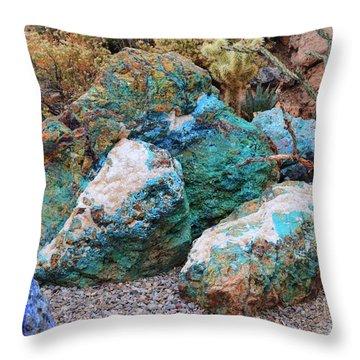 Turquoise Rocks Throw Pillow
