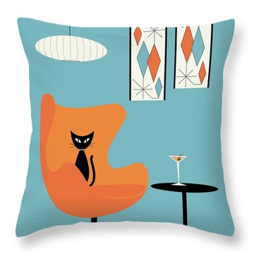 Turquoise Room Throw Pillow