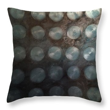 Turquoise Sapphire Aquamarine Mystery Oil On Canvas 2015  Throw Pillow