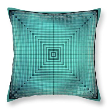 Turquoise Square Throw Pillow