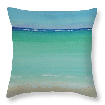 Turquoise Waters Long Abstract Throw Pillow