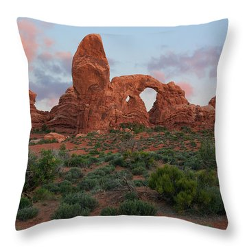 Throw Pillow featuring the photograph Turret Arch by Aaron Spong