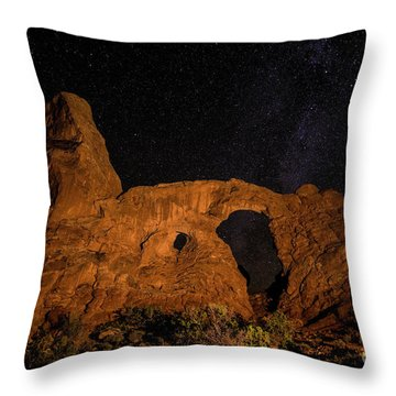 Throw Pillow featuring the photograph Turret Arch And The Milky Way - Utah by Gary Whitton