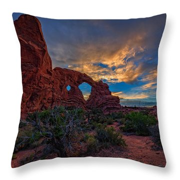 Turret Arch Throw Pillow