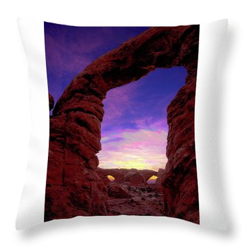 Throw Pillow featuring the photograph Turret Arch To Windows by Norman Hall