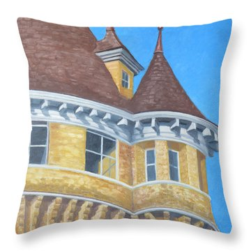 Turrets Of Lawson Tower Throw Pillow
