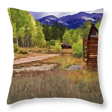 Turrett - Colorado Ghost Town Throw Pillow