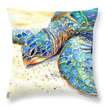 Turtle At Poipu Beach 4 Throw Pillow