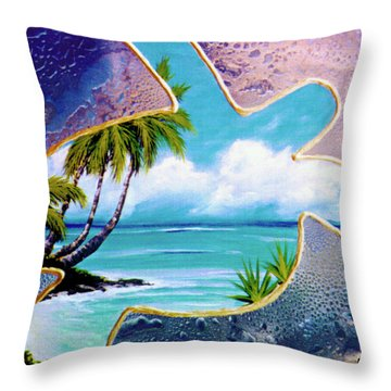 Turtle Bay #144 Throw Pillow by Donald k Hall