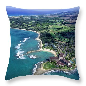 Turtle Bay - Looking East Throw Pillow