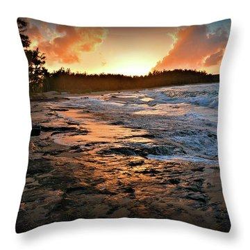 Turtle Bay Sunset 1 Throw Pillow