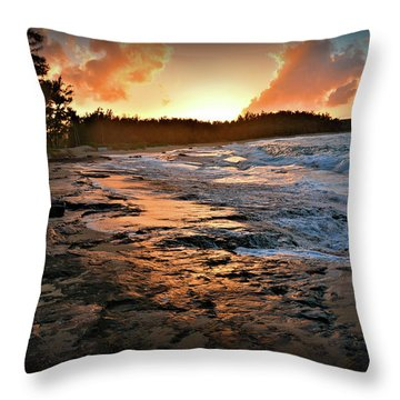 Turtle Bay Sunset 1 Throw Pillow