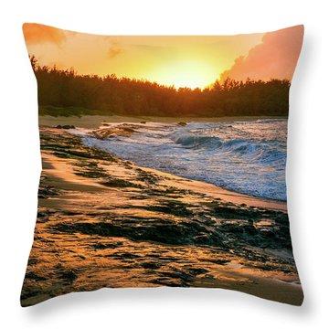 Turtle Bay Sunset 2 Throw Pillow