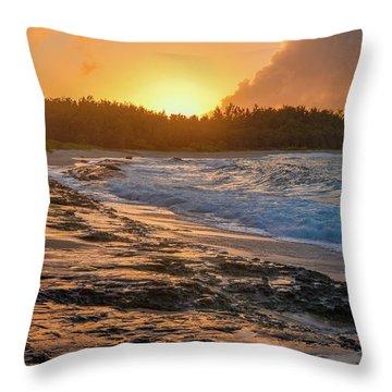 Turtle Bay Sunset 3 Throw Pillow