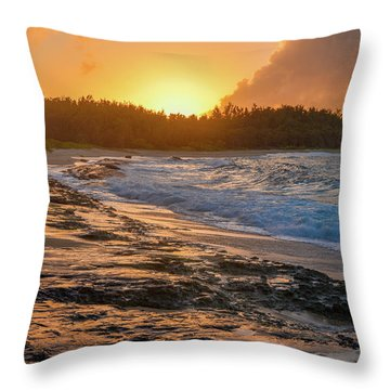 Turtle Bay Sunset 3 Throw Pillow