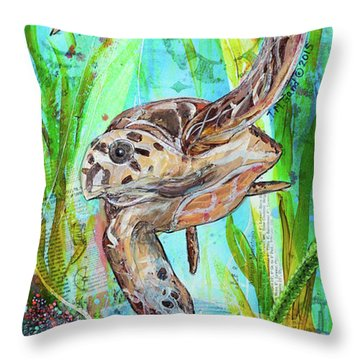 Turtle Cove Throw Pillow