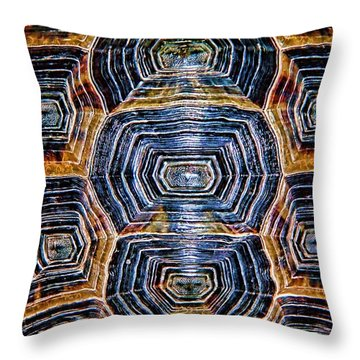 Turtle Madness Throw Pillow
