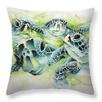 Turtle Soup Throw Pillow
