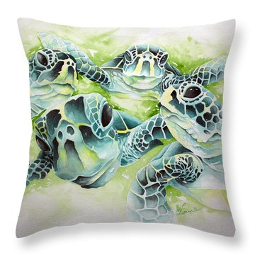 Turtle Soup Throw Pillow