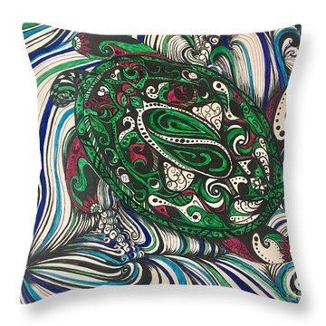 Turtle Time All Alone Throw Pillow