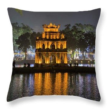 Turtle Tower IIi Hanoi Throw Pillow