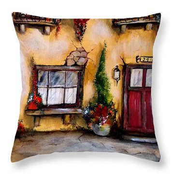 Tuscan 341 Red Door Throw Pillow