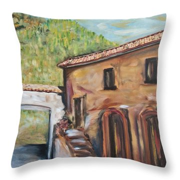 Tuscan Convent Throw Pillow