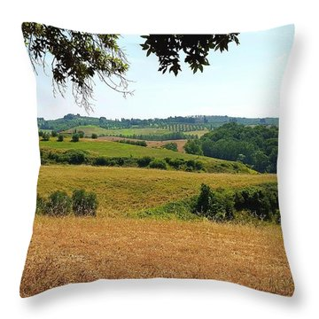 Throw Pillow featuring the photograph Tuscan Country by Valentino Visentini