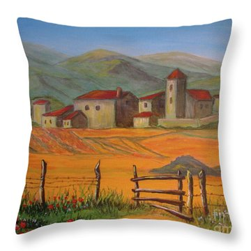 Tuscan Farm Throw Pillow