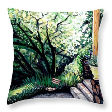 Throw Pillow featuring the painting Tuscan Gold by Elizabeth Robinette Tyndall