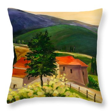 Tuscan Hills Throw Pillow