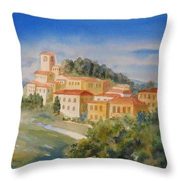 Tuscan Hilltop Village Throw Pillow