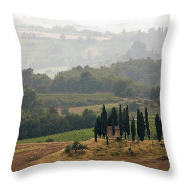 Throw Pillow featuring the photograph Tuscan Landscape by Stefan Nielsen